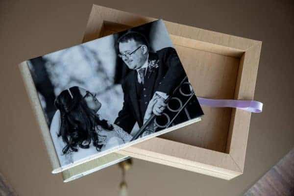 Wedding Photographs in beautifully crafted hand made in Italy wedding album